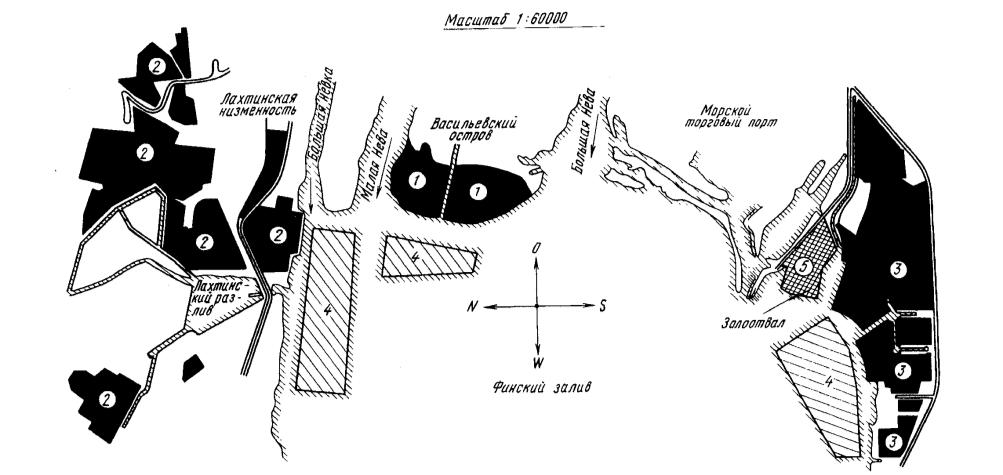 Схема размещения намытых в